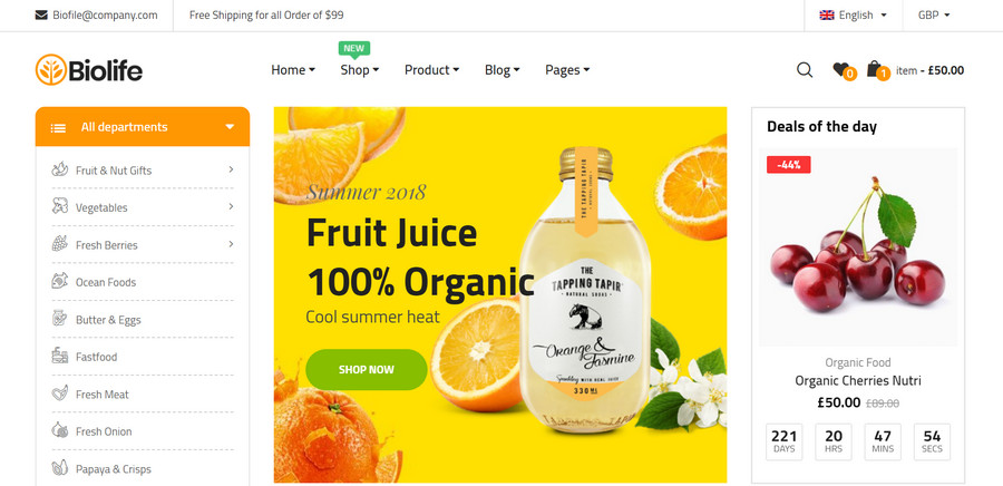 8 Best WooCommerce Supermarket Themes for 2018 13