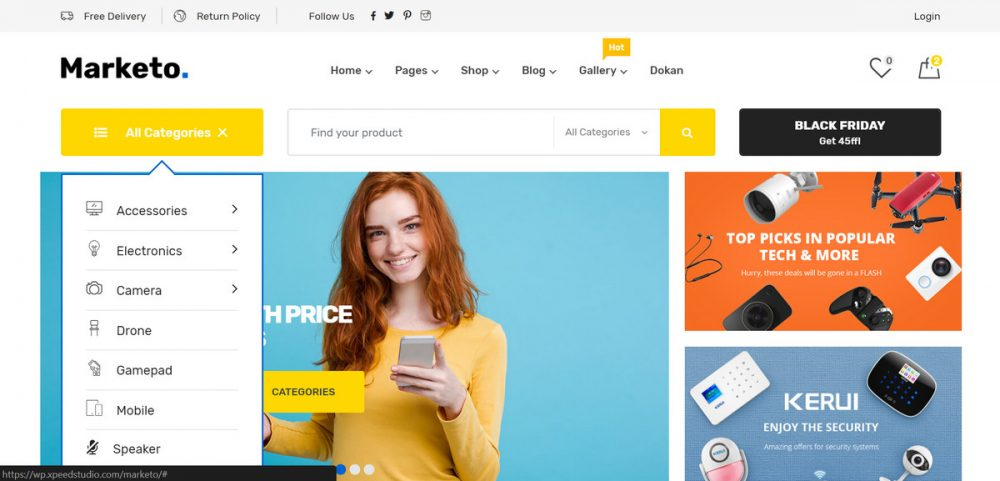 8 Best WooCommerce Supermarket Themes for 2018 1
