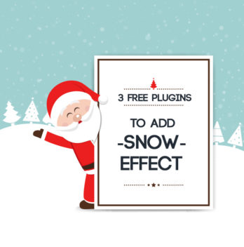 3 Free Plugins to Add Snow Effect to Your WordPress Blog (and Slides) 4