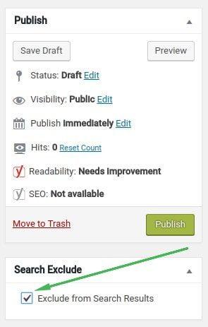 Search Exclude Plugin WordPress