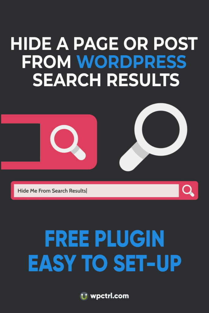 How to Hide a Page or Post from WordPress Site Search 1