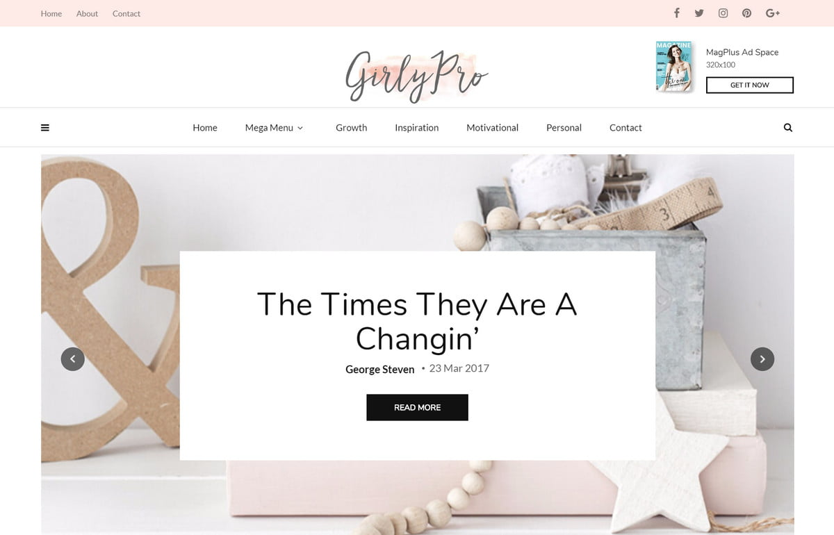 Feminine Blog Themes - The Best WordPress Themes for any Fashion, Beauty, Lifestyle Blog 6