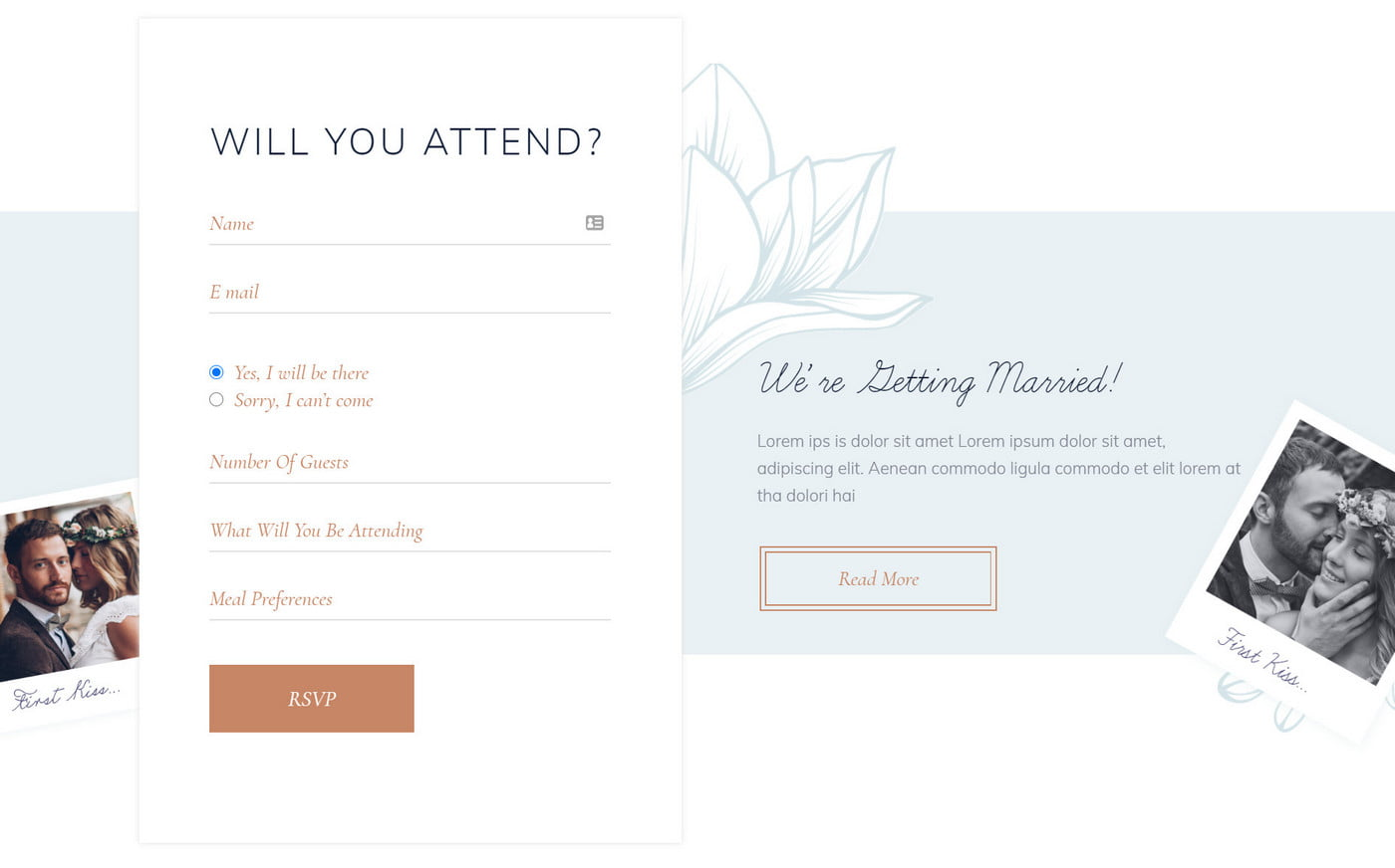 Next Level Wedding Invitation - Create Your Own Website 2