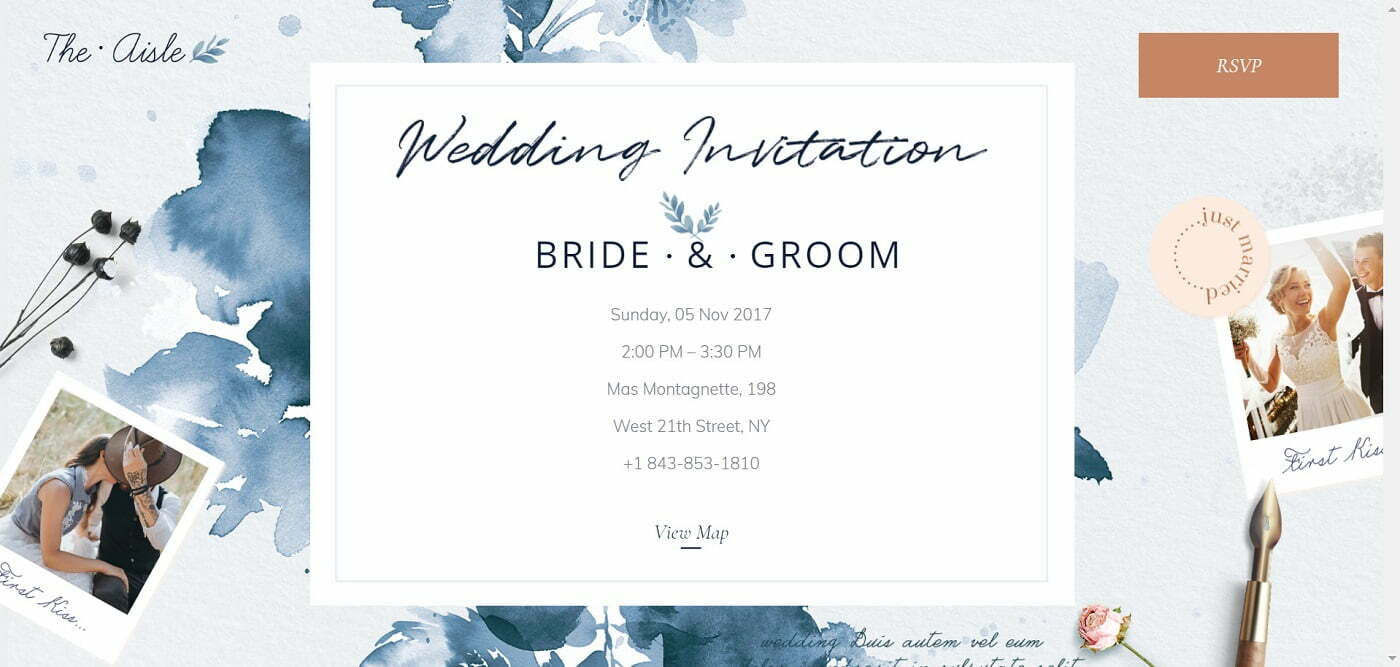 Next Level Wedding Invitation - Create Your Own Website 3